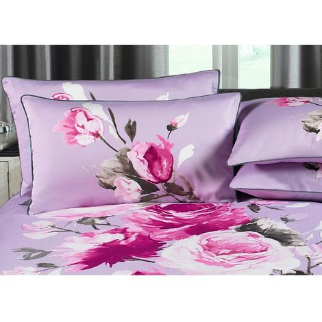 Riva Home Windsor Pillowcase (Piped (Singles)) (Heather)