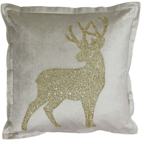 Riva Home Wonderland Prancer Christmas Feather Filled Cushion