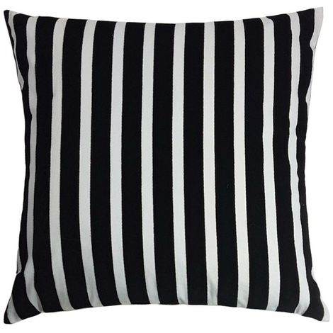 Riva Home Zanzibar Stripe Square Cushion Cover (55 x 55cm) (Black/White)