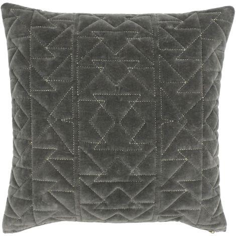 Riva Paoletti Aztec Geometric Design Feather Filled Cushion (50 x 50cm) (Grey)