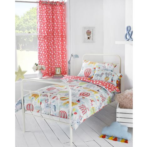 Riva Paoletti Childrens/Kids Vintage Circus Ringtop Eyelet Curtains (168x183cm) (Multicolour)