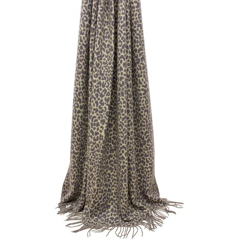 Riva Paoletti Mara Leopard Print Throw Blanket