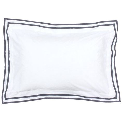 Riva Paoletti Sandringham Oxford Pillowcase (Oxford (Singles)) (Pewter)