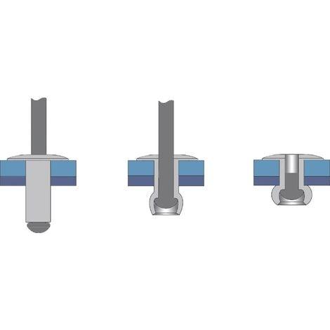 Rivet aveugle N/A Bralo 1210004010 (Ø x L) 4 mm x 10 mm 500 pc(s) W46966