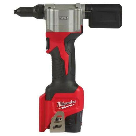 Riveteuse MILWAUKEE M12 BPRT-201X - 1 batterie 12V 2.0 Ah - 1 chargeur 4933464405