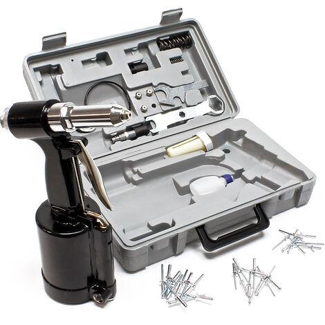 """main image of """"Riveteuse pince à rivets à air comprimé 2,4 - 4,8 mm Riveteuse pneumatique pour rivets aveugles Kit"""""""