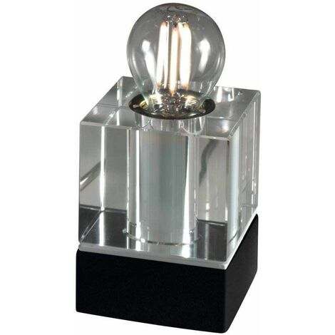 RIVIERA black designer table lamp 1 bulb