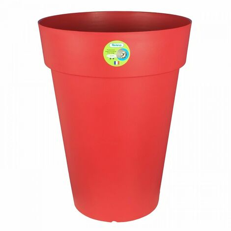 RIVIERA Pot de fleurs Soleilla - Rond - Ø 50 x 66 cm - Rouge