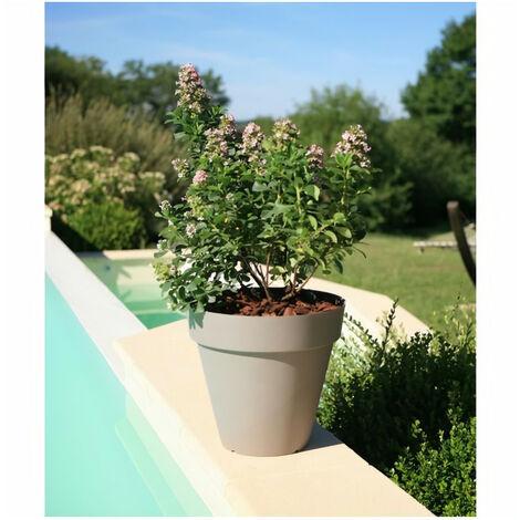 """main image of """"RIVIERA Pot de fleurs Soleilla - Rond - Ø 60 x 53,6 cm -Taupe"""""""