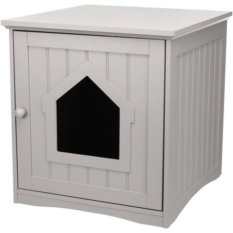 RIXIE Cat House for Litter Box 49x51x51 cm Grey - Grey