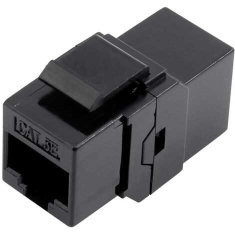 RJ45 femelle double TRU COMPONENTS 1425900 RJ45 Cat5e Adaptateur/prolongateur droit noir 1 pc(s)