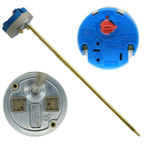 """RM Cylinders - 11"""" Rod Combined Thermostat & Cut Out 16A 250V Type RT-WH 34"""