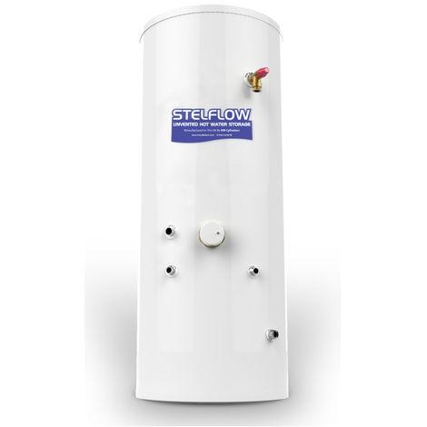 RM Stelflow Slimline 180 Litre Indirect Unvented Cylinder inc Electrical backup element