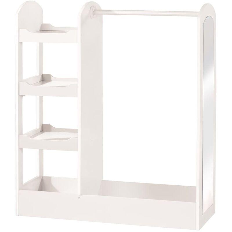 Armoire pour enfants Blanc 90x34,5x107 cm Bois - Roba