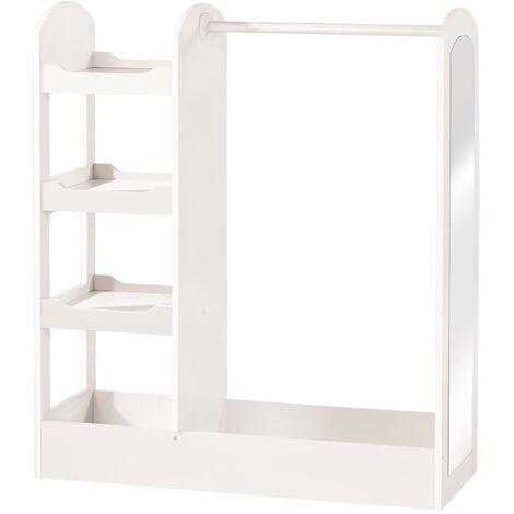 roba Children's Wardrobe White 90x34.5x107 cm Wood - White