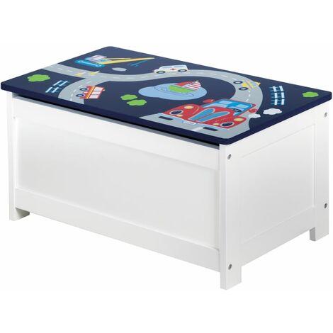 roba Cofre de almacenamiento de juguetes Racer azul 60x32x30 cm MDF