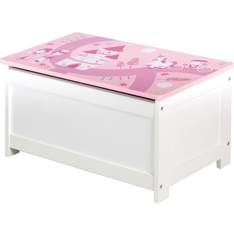 roba Toy Storage Chest Crown Pink 60x32x30 cm MDF