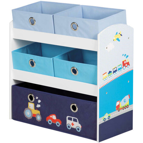 roba Toy Storage Unit Racer Blue 63.5x30x60 cm MDF