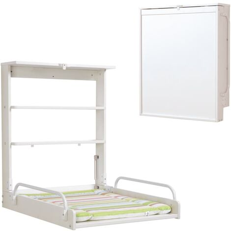 roba Wall Changing Shelf Jungle Baby White