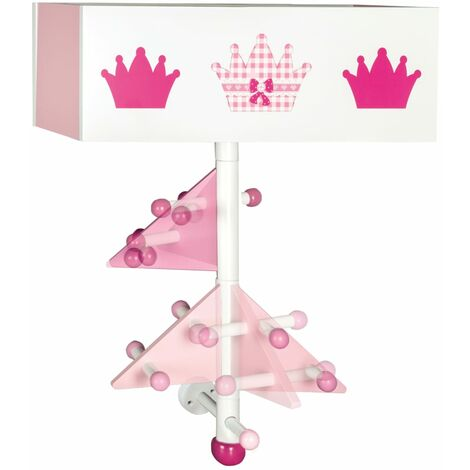 roba Wall Hanger with Storage Crown Wood - Pink