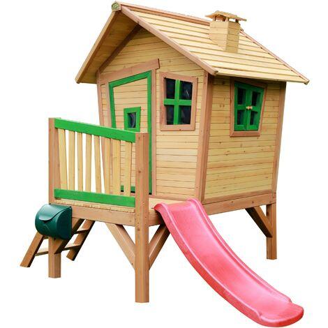 Robin Playhouse: Maisonnette pour enfants, fenêtres intégrées et bois très résistant