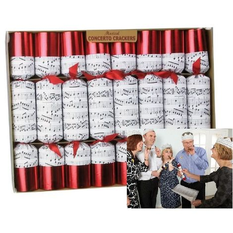 Robin Reed Luxury Handmade Christmas Crackers - Music Games for all the Family