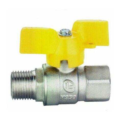 robinet à tournant sphérique 1 « » m / droit f en 331 pour le gaz de ville / gaz naturel / gaz liquide