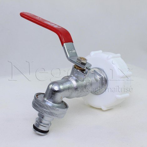 Robinet arrosage laiton cuve à eau