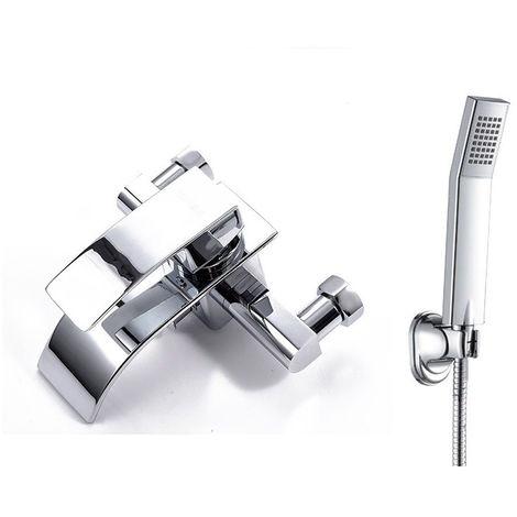 Robinet baignoire robinet ensemble robinet de mural douche r pour Salle de Bain