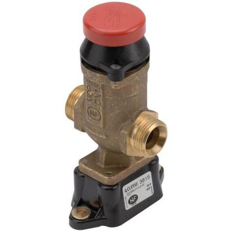 Robinet darrêt gaz avec poussoir de sécurité coup de poing 3815 DN25 avec clé de réarmement
