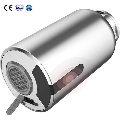 Robinet de Cuisine avec Douchette Extracible Mitigeur d'évier à Débit Variable 2 Jets au Choix Pivotant à 360° Desgin Moderne