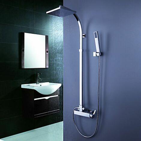 Robinet de douche au style contemporain avec douchette pluie et ...