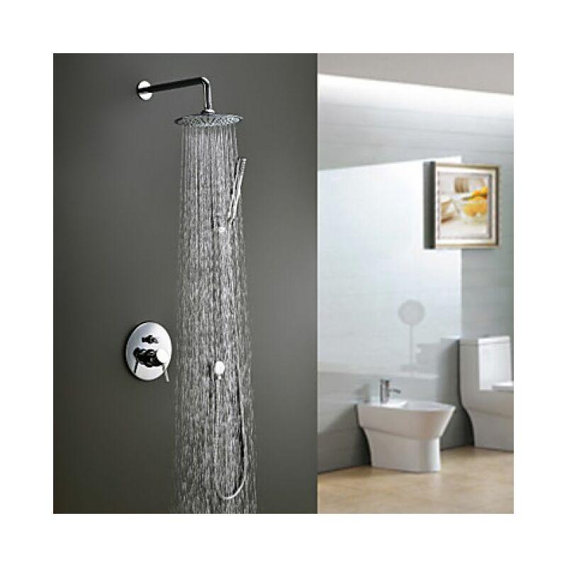 Robinet de douche au style moderne, pommeau de douche 20 cm et ...