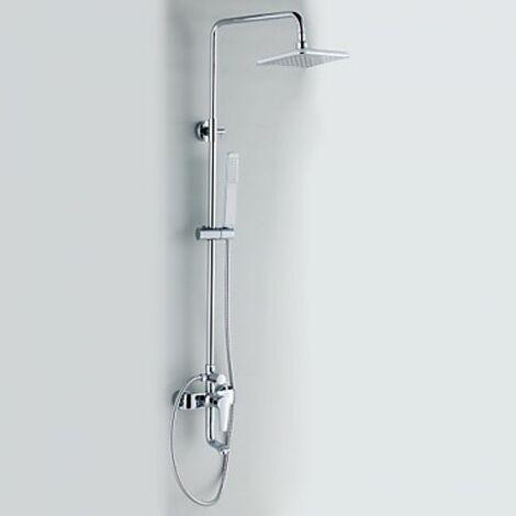 """Robinet de douche et baignoire avec douchette en pluie 8"""" et pomme de douche aux angles droits"""