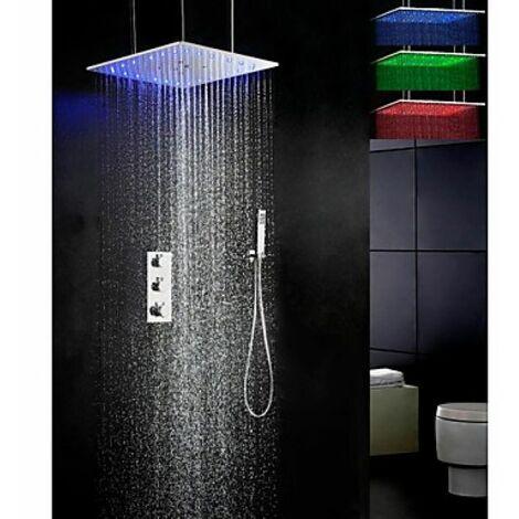Robinet de douche thermostatique avec différentes sortie d'eau (pulvérisation, pluie, atomisation)