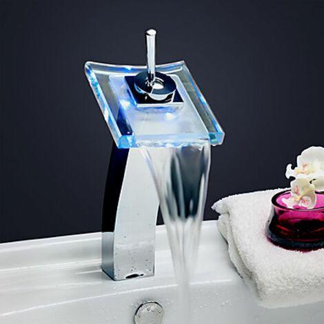 Robinet de lavabo avec mitigeur intégré