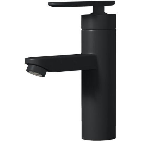 Robinet de Lavabo Denver Mitigeur Pour Vasque Robinet Mitigeur Design Laque noir En Laiton Robinetterie Salle de Bains