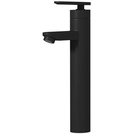 Robinet de Lavabo Denver XL Mitigeur Pour Vasque Robinet Mitigeur Design Laque noir En Laiton Robinetterie Salle de Bains