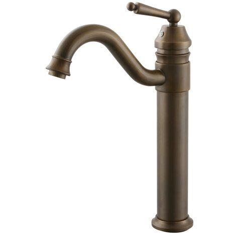 Robinet de lavabo, finition en laiton pour un style antique