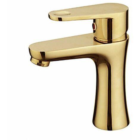 Robinet de lavabo plaque or