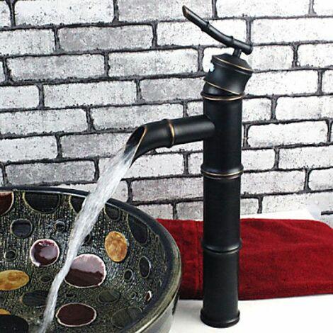 Robinet de lavabo traditionnel en forme de bambou