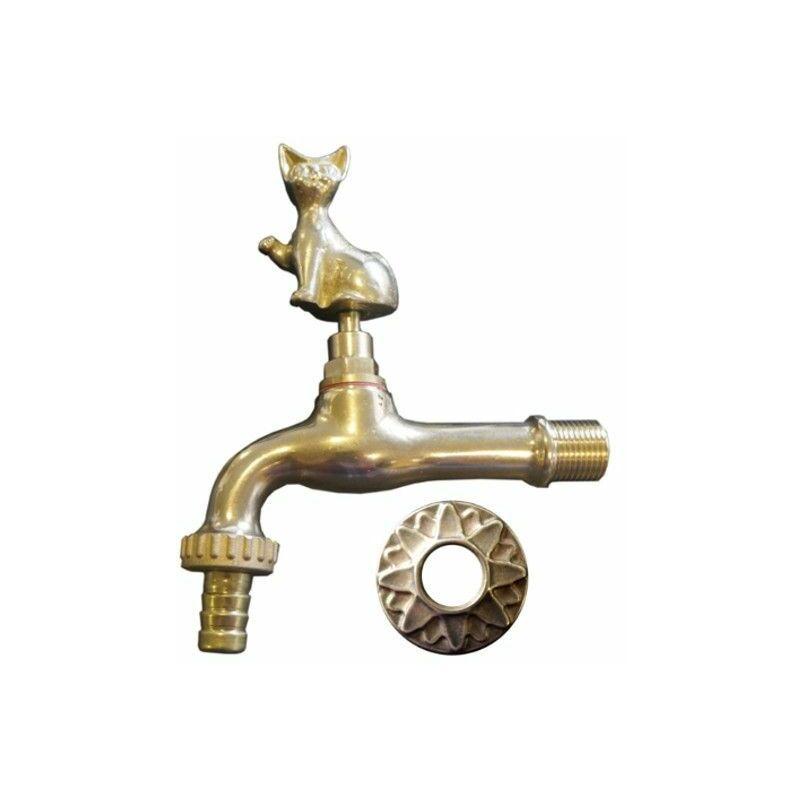 Robinet décoratif pour fontaine : Motif chat - M1/2-M3/4