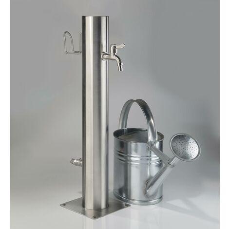 """main image of """"Robinet d'extérieur en acier inoxydable à 2 robinets et porte-tuyauWestfalia Wasserwelten"""""""