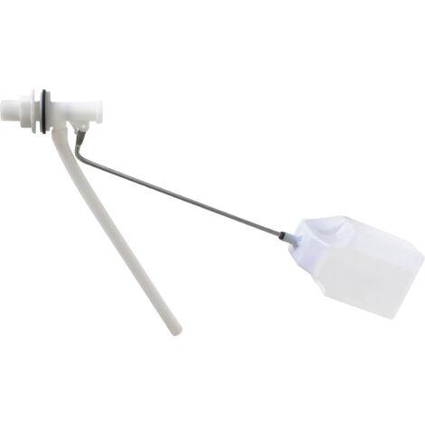 Robinet flotteur a levier alimentation laterale mecanisme chasse d'eau WC