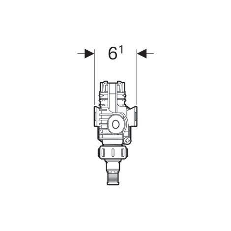 Robinet flotteur Geberit type 380, alimentation latérale, 3/8'' (12/17) pour réservoir universel - Geberit