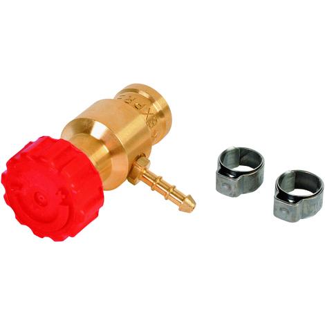 Robinet gaz avec collier pour réf. 2901 et 2902