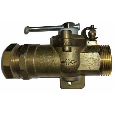 Robinet jonction sphéro-conique type E, gaz à socle PE 32/M33X42