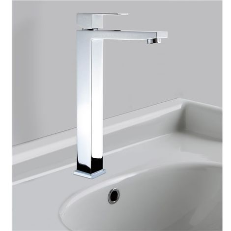 Robinet lavabo haut pour vasque mitigeur laiton chrome vidage clic clac