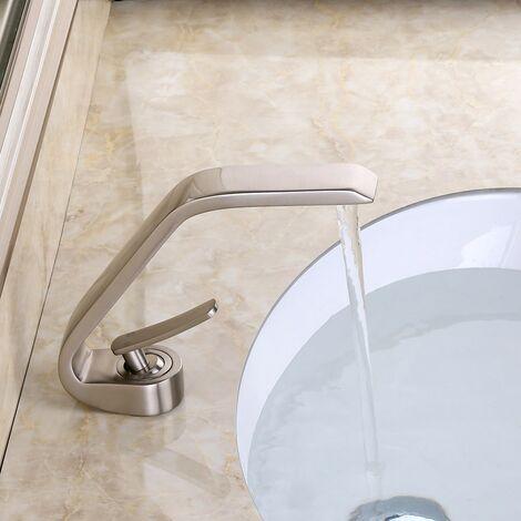 Robinet lavabo mitigeur sophistiqué en laiton massif
