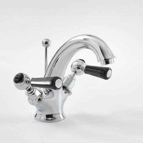 Robinet lavabo rétro Topaz Noir - BC405DL